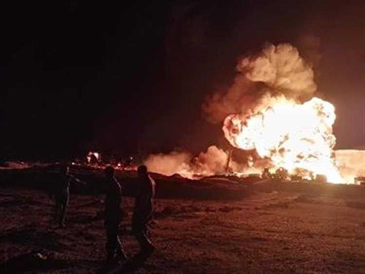 """""""صحة جنوب سيناء"""": إصابة 3 في حريق حقل بترول """"أم عسل"""""""