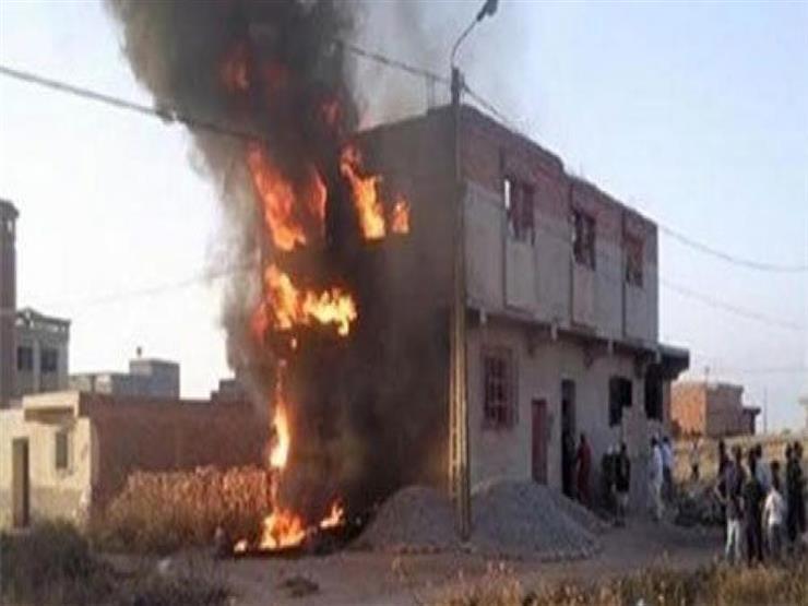 """أشعلت أمهما """"فرن بلدي"""" وتركتهما.. وفاة طفلين في حريق منزل بالبحيرة"""