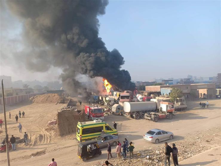 حريق هائل في مخزن سولار بالسلام