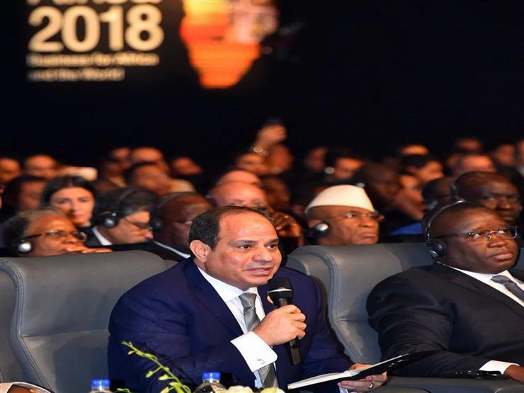 السيسي يتفاعل مع رؤساء الدول والمسئولين الأفارقة في منتدى شرم الشيخ (فيديو)
