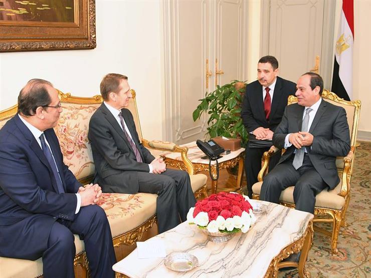 السيسي يجتمع بمدير جهاز المخابرات الخارجية الروسية