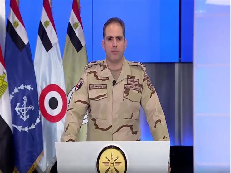 المتحدث العسكري ينفي استهداف طائرة حربية لنقطة عسكرية بالعريش