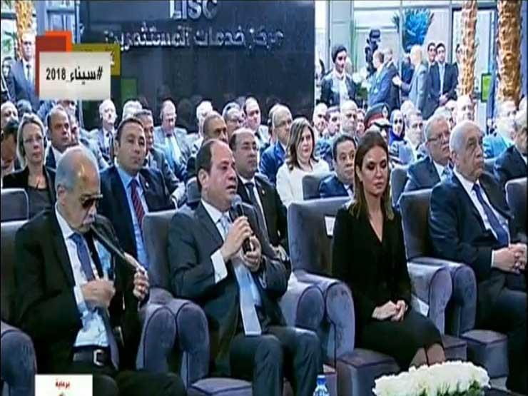 """السيسي يرد على سؤال المصريين: """"بنستورد غاز إسرائيلي ليه وعندنا حقل ظهر؟"""" -(نص كامل)"""