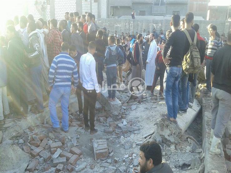 بالصور.. انهيار مبنى الجمعية الزراعية غرب الإسكندرية