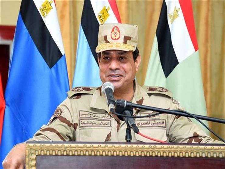 الرئاسة  توضح سبب ارتداء السيسي الزي العسكري في سيناء...مصراوى