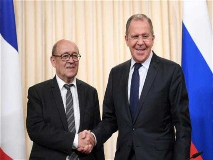 روسيا: لافروف يبحث مع نظيره الفرنسي التحضير لزيارة ماكرون لموسكو والأزمة السورية