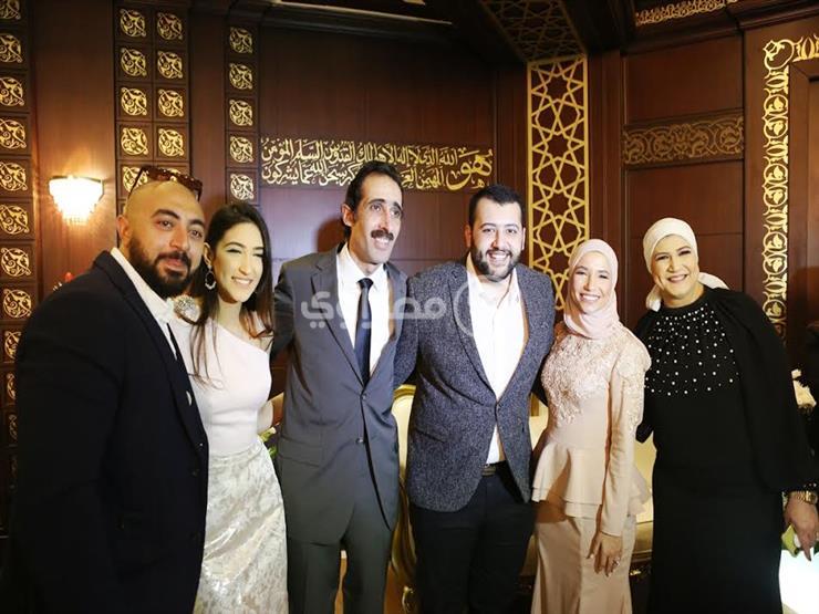 نجوم الفن والإعلام والسياسة في عقد قران نجل مجدي الجلاد