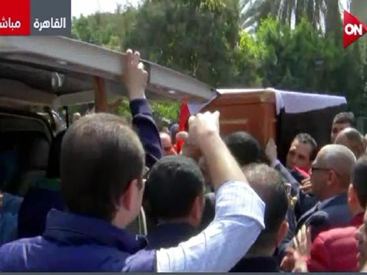 تشييع جثمان سمير زاهر رئيس اتحاد الكرة الأسبق- فيديو