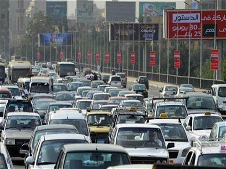 النشرة المرورية.. كثافات متوسطة بمعظم محاور القاهرة والجيزة...مصراوى