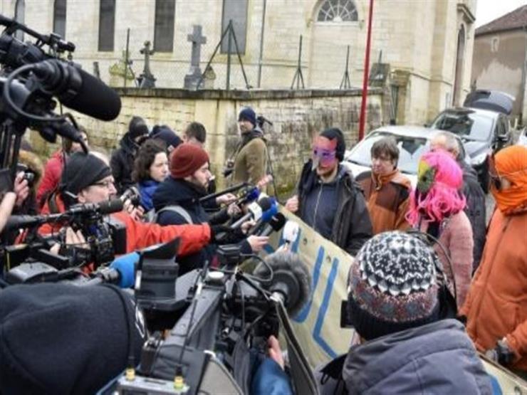تظاهرة لمعارضي مشروع اقامة مطمر للنفايات النووية في شمال شرق فرنسا