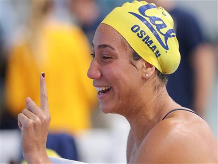 فريدة عثمان تحصد الذهب في سباق 50 متر فراشة بدورة ألعاب البحر المتوسط