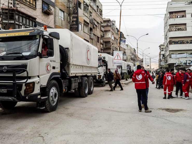 قافلة مساعدات الأمم المتحدة تصل الغوطة الشرقية