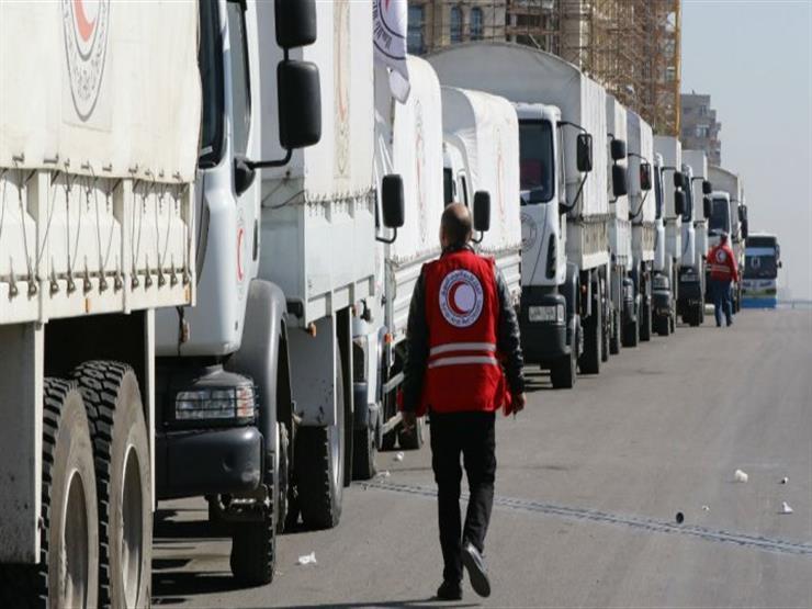 روسيا: عودة قافلة المساعدات الدولية من الغوطة الشرقية بعد مجاح المهمة