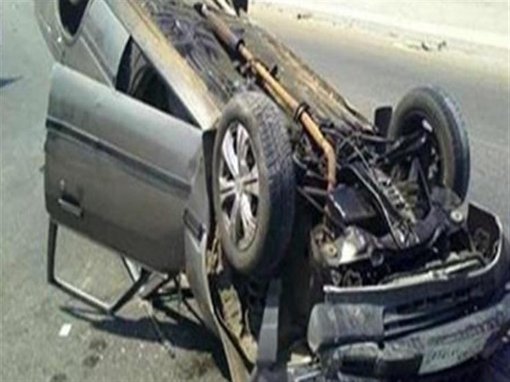 وفاة شخص في تصادم سيارة بحاجز خرساني أمام كلية الشرطة...مصراوى
