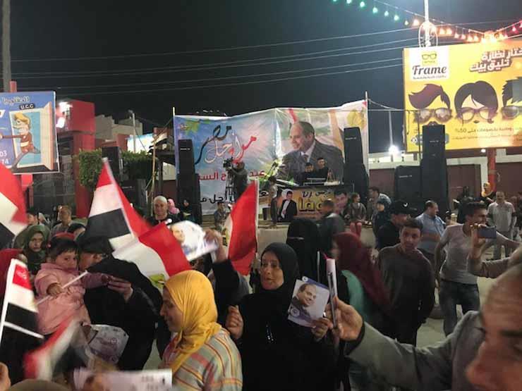 25 صورة ترصد مظاهر الاحتفال بفوز السيسي في كفرالشيخ