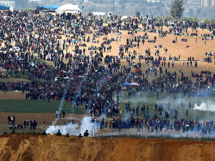 مواجهات ضمن مسيرات العودة بين الفلسطينيين والجيش الإسرائيلي في قطاع غزة