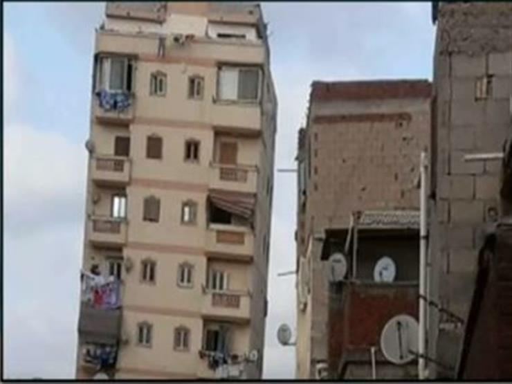 عقار سكني مائل يهدد حياة الأهالي في الإسكندرية