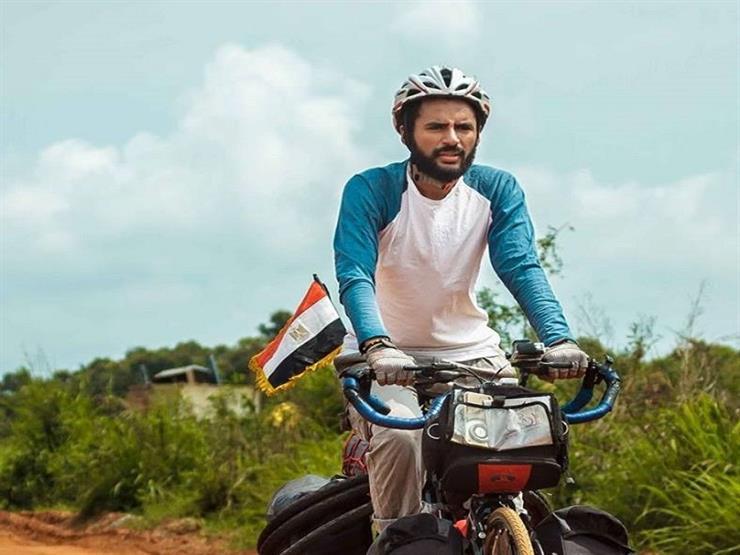 """""""نوفل"""" يكشف تفاصيل تعثر رحلته المتجهة لروسيا بالدراجة - فيديو"""