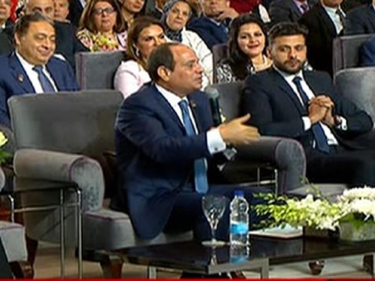 """السيسي: """"بمشي الساعة 5 الصبح وأقول يارب إدينا.. ولا يوجد دولة تقدم دعم مثل مصر"""""""