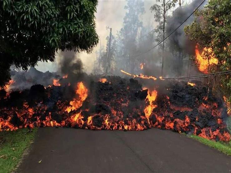 ارتفاع عدد المباني التي دمرتها حمم بركان هاواي إلى 82 ...مصراوى