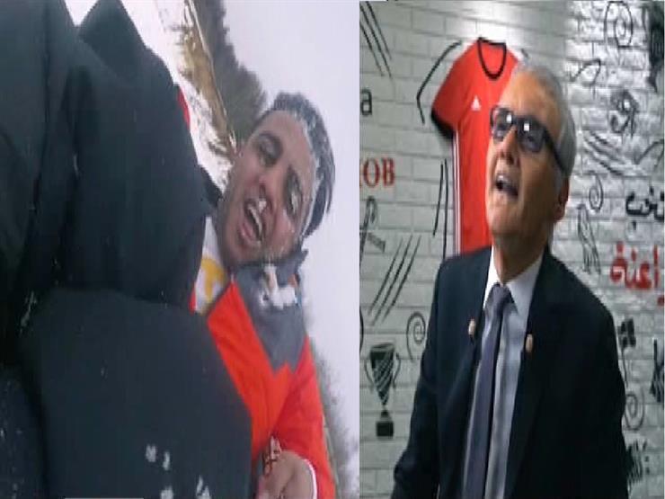 تعليق كوميدي من رامز على سقوط أوس أوس من زلاجة الثلج -فيديو