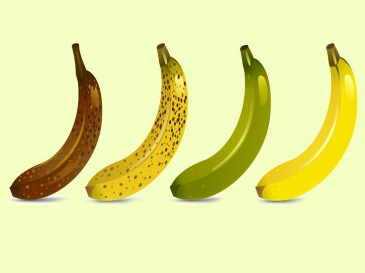 تعرف علي فوائد الموز على حسب اختلاف درجة النضج واللون