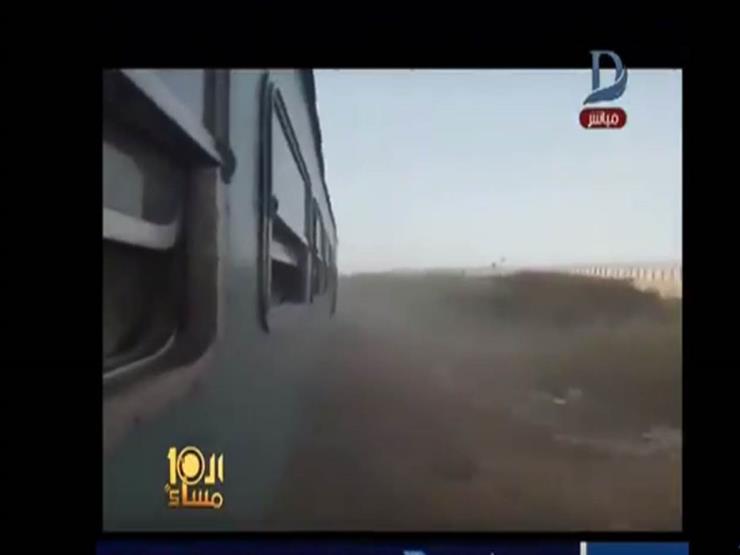 الإبراشي يعرض فيديو لخروج قطار ببورسعيد عن القضبان