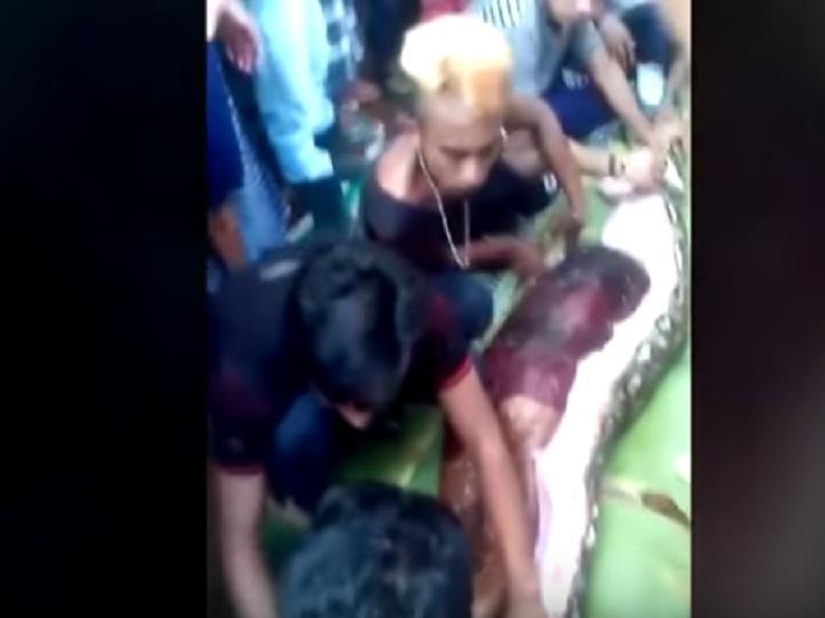 فيديو: اخراج إندونيسية من بطن ثعبان