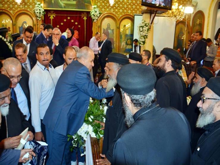 محافظ القليوبية يشهد حفل العيد الـ40 لرسامة الأنبا مرقس أسقف...مصراوى