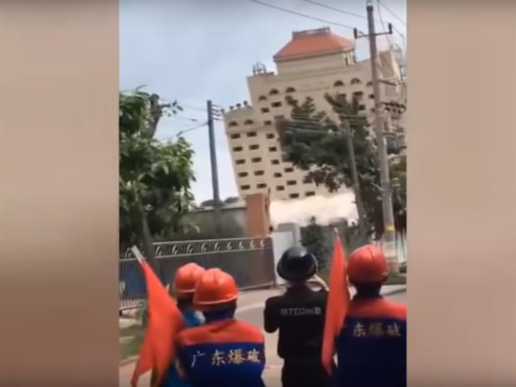 تدمير فندق تاريخي بالصين في 10 ثوان (فيديو)...مصراوى