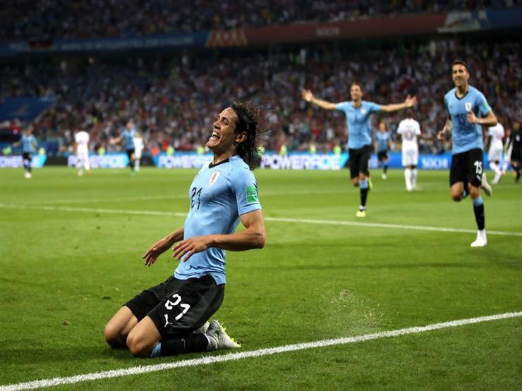 مدرب أوروجواي يزيد الغموض بشأن مشاركة كافاني أمام فرنسا