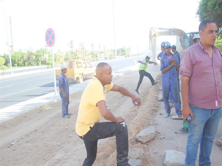 إقامة مشاية وممشى للدراجات بحي النور في مدينة شرم الشيخ...مصراوى