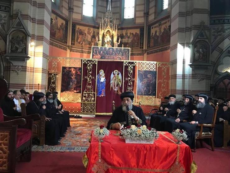 """البابا تواضروس يلقي عظته الأسبوعية بكنيسة """"العذراء المنتصرة"""" في النمسا"""