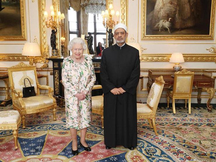 شيخ الأزهر للملكة إليزابيث: نفتح نوافذ الحوار مع الجميع لترسيخ السلام