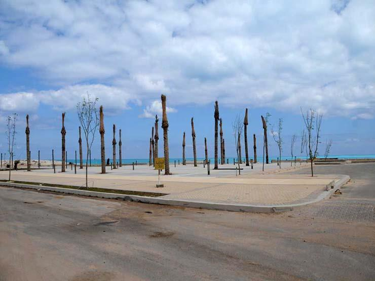 """""""القرى السياحية"""": انتهاء تنفيذ الممشى التجاري في """"مارينا العلمين"""""""