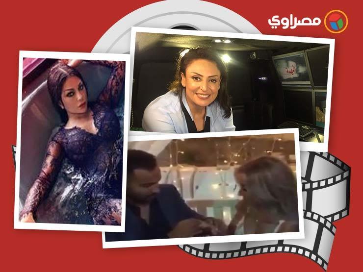 النشرة الفنية| خطوبة أحمد فهمي وهنا الزاهد وأول صورة لإيناس عز الدين في المستشفى