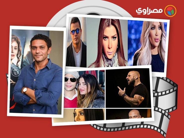 """النشرة الفنية  آسر يخسر 9 كيلو من وزنه بسبب """"تراب الماس"""".. وإلغاء حفل رامي صبري لدواعٍ أمنية"""