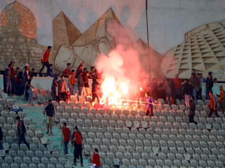 """تجديد حبس 6 متهمين من """"ألتراس أهلاوي"""" 15 يومًا في أحداث شغب مباراة مونانا"""
