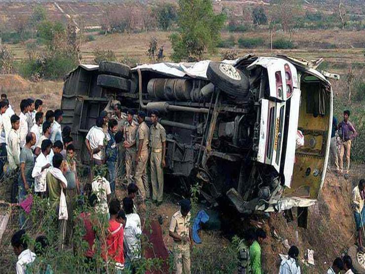 مقتل 45 شخصًا في سقوط حافلة جنوبي الهند