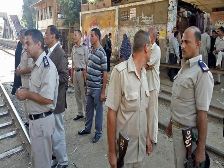 بالصور- حملة أمنية لإخلاء منطقة  سكة حديد الباجور  من الباعة...مصراوى