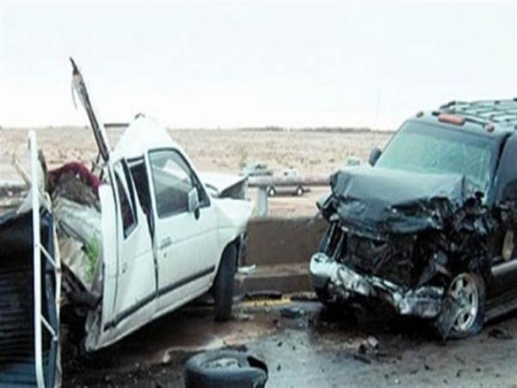 شلل مروري وإصابة شخصين في تصادم سيارتين أعلى محور 26 يوليو...مصراوى