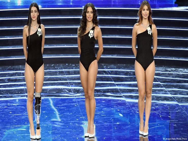 إيطالية بساق صناعية تنافس على لقب ملكة الجمال