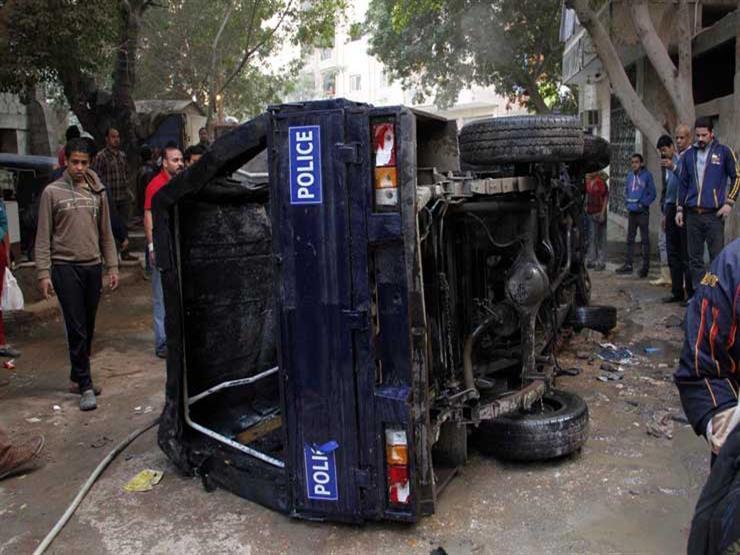 إصابة أميني شرطة في انقلاب سيارة بالوادي الجديد