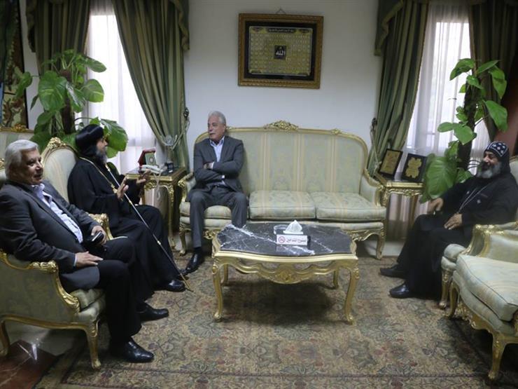 أسقف جنوب سيناء يهنئ اللواء خالد فودة بتجديد الثقة
