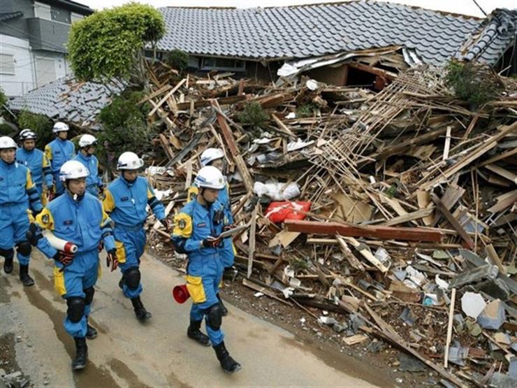 32 مفقودًا وأكثر من 100 مصاب جراء زلزال اليابان