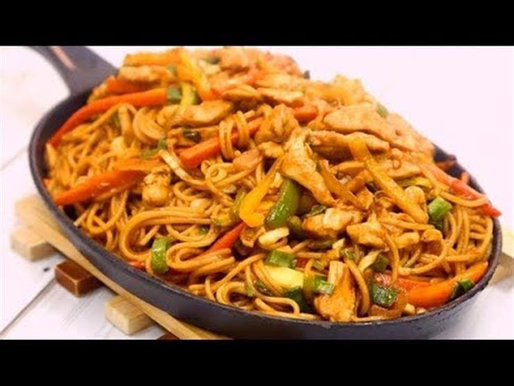 طريقة تحضير مكرونة صيني بالدجاج والخضروات
