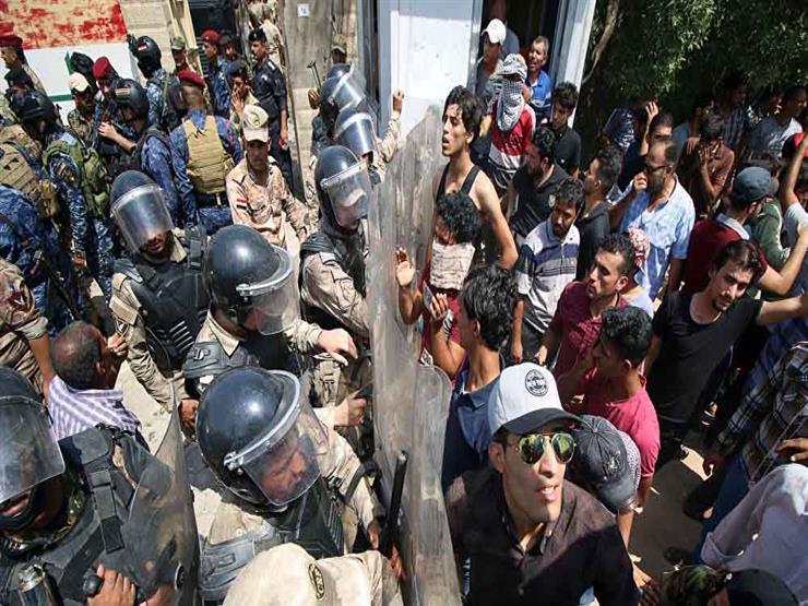 """""""مفوضية حقوق الإنسان"""": مقتل اثنين وإصابة 47 في تظاهرات البصرة أمس"""