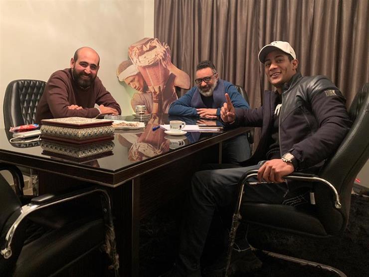 """محمد رمضان وعبدالرحيم كمال وإبراهيم فخر في جلسة عمل """"زلزال"""""""
