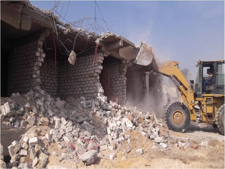 إزالة 118 حالة تعد على الطريق في المنطقة الأثرية