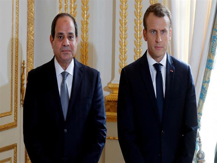 ماكرون يستعرض مع السيسي تطورات الأوضاع في ليبيا والسودان